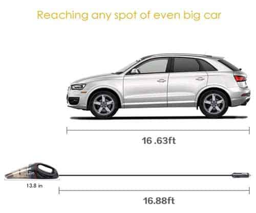 Best performance Techzere Car Handheld Vacuum Cleaner India