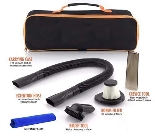 Best performance Techzere Car Handheld Vacuum Cleaner