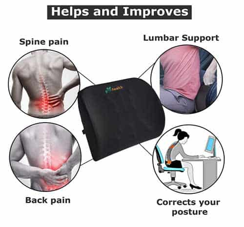 Grin Health office & Car Seat cushion for Lumbar Support India