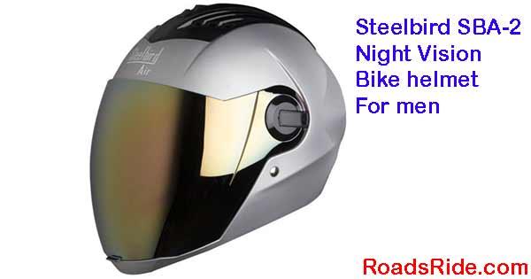 Steelbird SBA-2 Night Vision bike helmet For men
