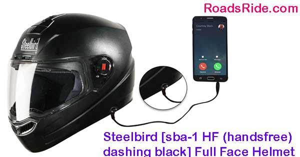 Steelbird [sba-1 HF (handsfree) dashing black] Full Face Helmet