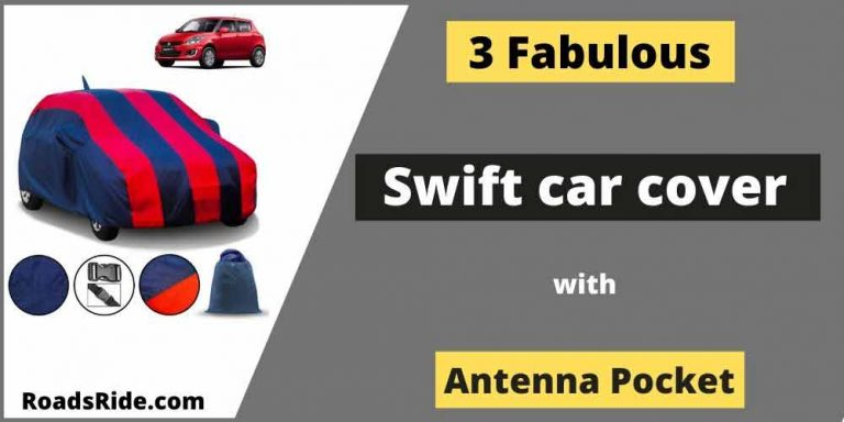 Fabulous & Fitted Swift car cover with an antenna pocket (Jan. 2021)