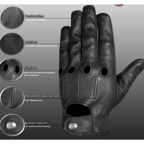 Mens Leather lambskin driving gloves