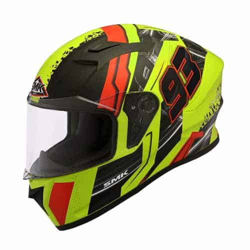 SMK full Face Helmet for Men's with Swank Graphics & Pinlock