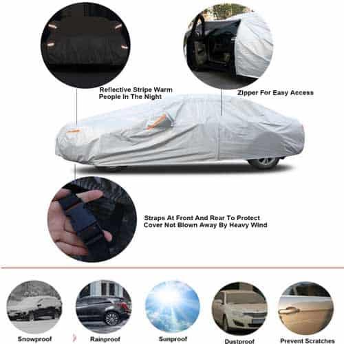 Waterproof kayme car cover for Sedan