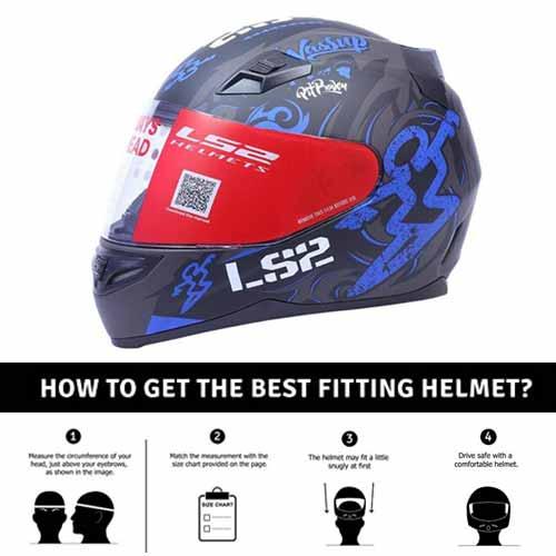 ls2 full face helmet with Mercury Visor