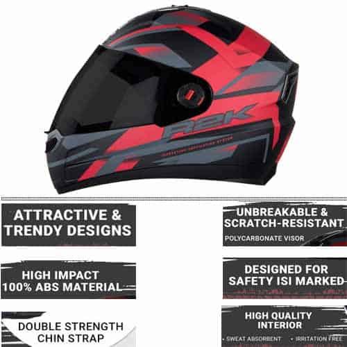 steelbird SBA-1 R2k full face helmet with smoke visor