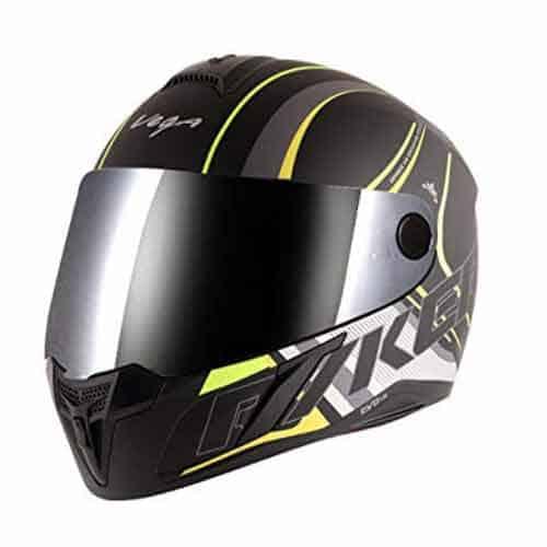 Vega Evo BT Track Dull Black Neon Yellow Helmet