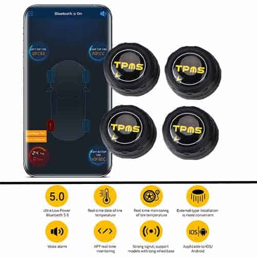LEEPEE Bluetooth 5.0 Tire Pressure Monitoring System for car