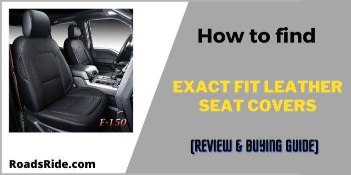 How to find exact fit leather seat covers