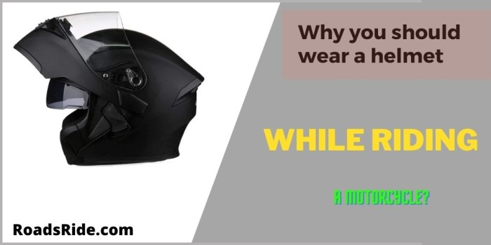 Read more about the article Why you should wear a helmet while riding a motorcycle?