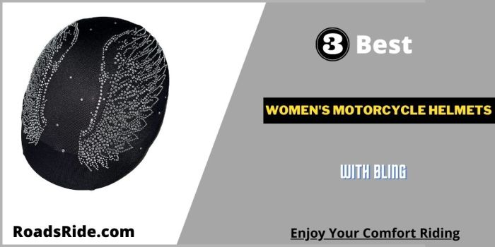 Read more about the article 3 Best women's motorcycle helmets with bling: Branded, Cool design, Comfortable