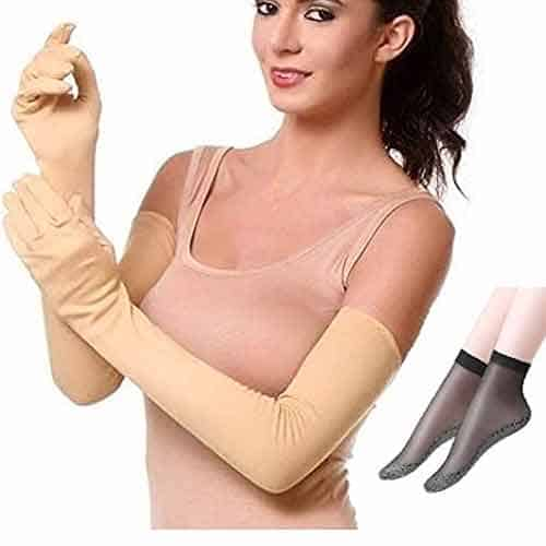 Full hand gloves for bike for ladies  (Pollution and Sunlight Protection)