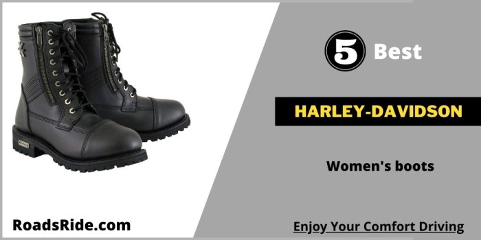 5 Best Harley-Davidson women's boots and shoes