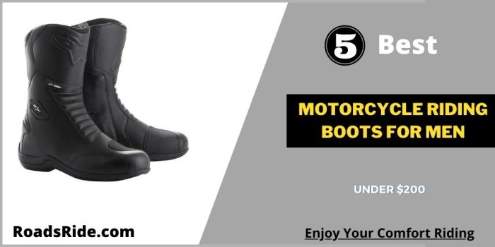 5 Best Motorcycle riding boots for men under $200 in USA