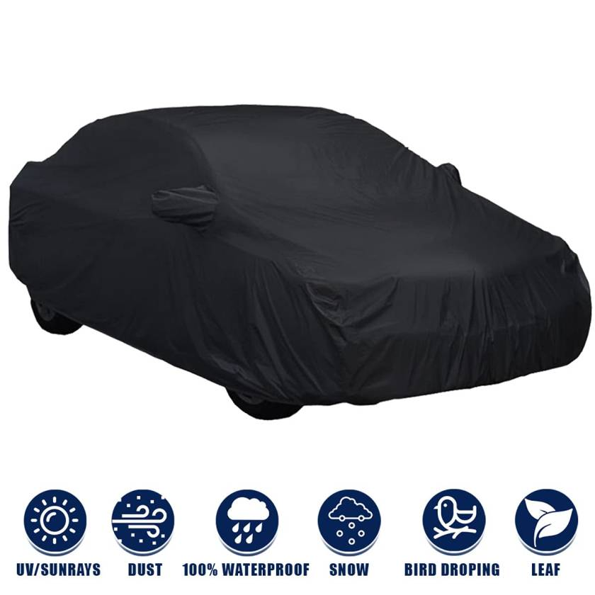 Kingsway Fully Waterproof Car Body Cover with Mirror Pockets for Hyundai I10