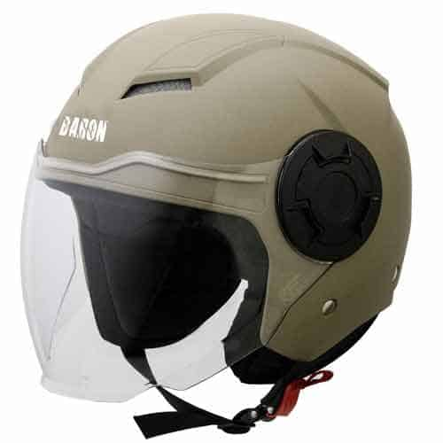 Steelbird Baron Open Face Helmet with Clear Visor, Large 600 MM