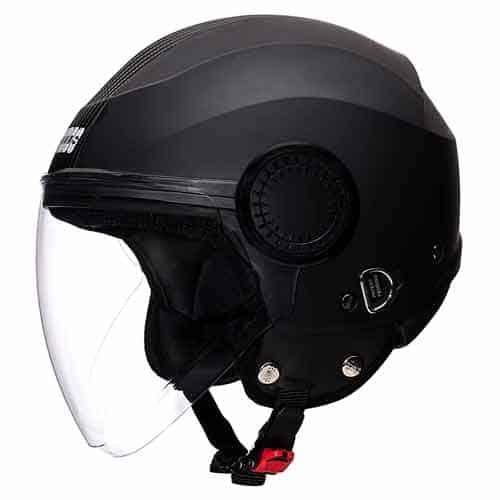 Studds Urban Black Strip Open Face Helmetfor women