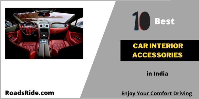10 Best car interior accessories in India
