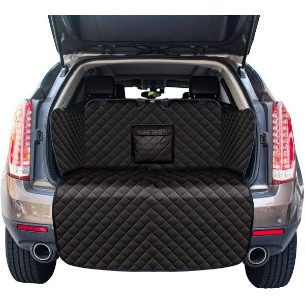 Water Resistant Pet Cargo Cover Dog Seat Cover Mat with Bumper Flap Protector