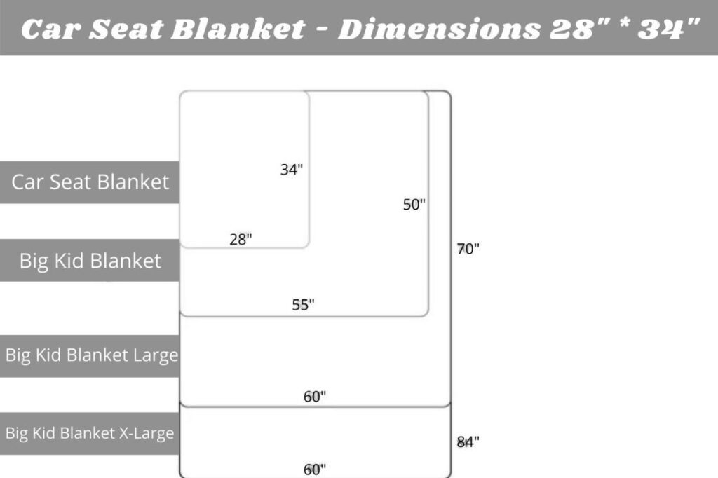 What size should a baby car seat blanket be?